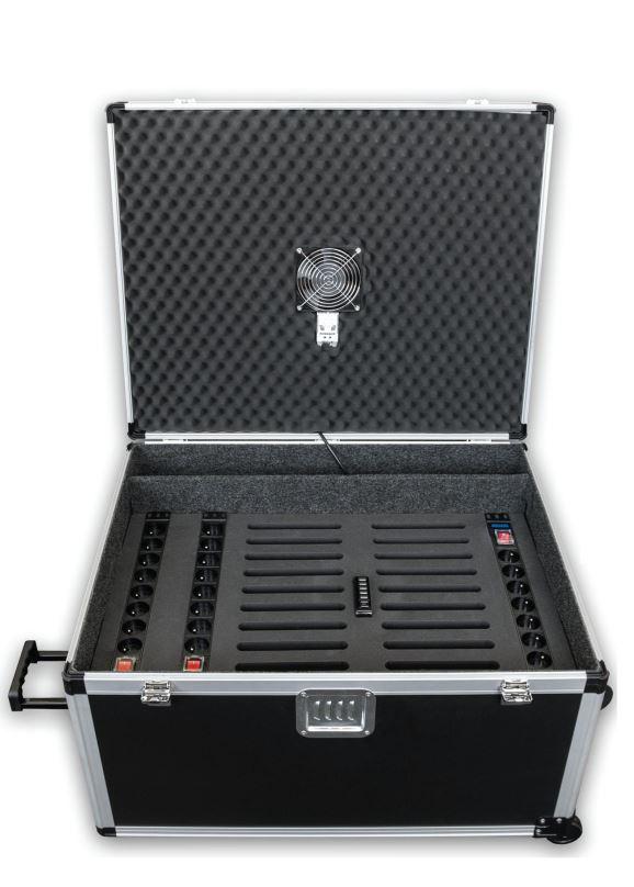 BSkufr pro 10 notebooků, 10x230V, Wi-Fi, USB HUB