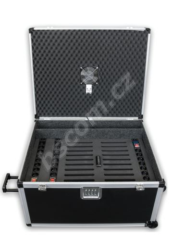 BSkufr pro 16 tabletů, 16x230V, USB HUB