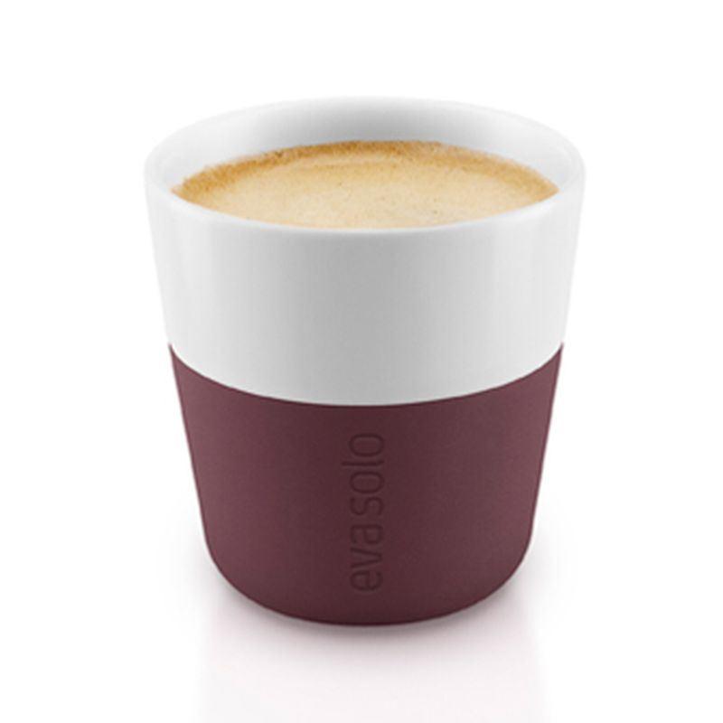 Eva Solo termošálky na espresso 80 ml, set 2 kusy, burgundy